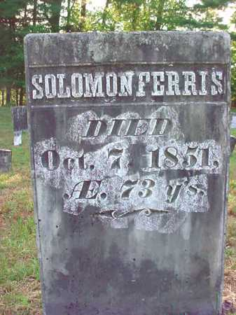 FERRIS, SOLOMON - Warren County, New York | SOLOMON FERRIS - New York Gravestone Photos
