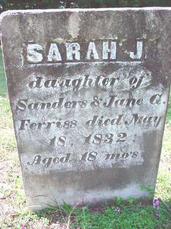 FERRISS, SARAH J - Warren County, New York | SARAH J FERRISS - New York Gravestone Photos