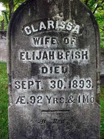 FISH, CLARISSA - Warren County, New York | CLARISSA FISH - New York Gravestone Photos