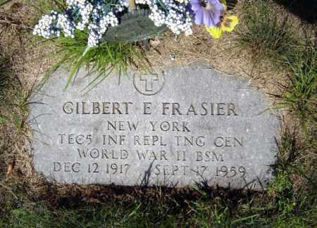 FRASIER, GILBERT E - Warren County, New York | GILBERT E FRASIER - New York Gravestone Photos