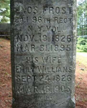 WILLIAMS, EMILY - Warren County, New York   EMILY WILLIAMS - New York Gravestone Photos