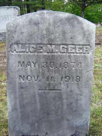 GEER, ALICE M - Warren County, New York | ALICE M GEER - New York Gravestone Photos