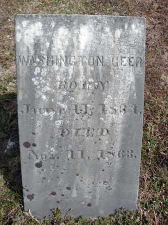 GEER, WASHINGTON - Warren County, New York | WASHINGTON GEER - New York Gravestone Photos