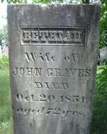 GRAVES, BETHIAH - Warren County, New York | BETHIAH GRAVES - New York Gravestone Photos