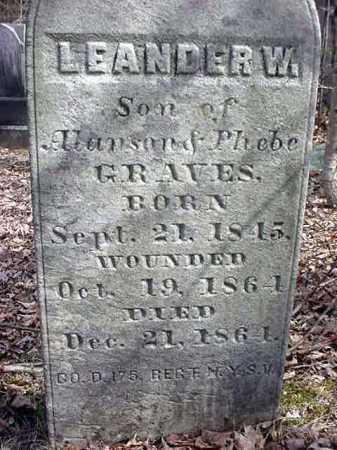 GRAVES (CW), LEANDER WILLIAM - Warren County, New York | LEANDER WILLIAM GRAVES (CW) - New York Gravestone Photos