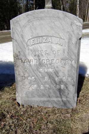 GREGORY, ELIZA A - Warren County, New York | ELIZA A GREGORY - New York Gravestone Photos