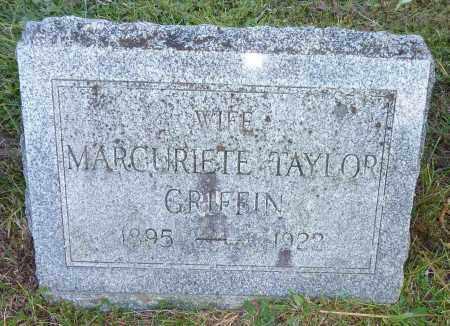 TAYLOR GRIFFIN, MARGURIETE - Warren County, New York | MARGURIETE TAYLOR GRIFFIN - New York Gravestone Photos