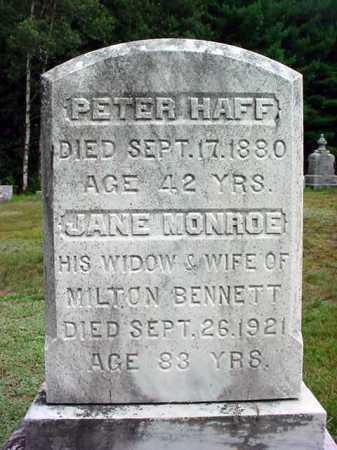 HAFF, PETER - Warren County, New York | PETER HAFF - New York Gravestone Photos