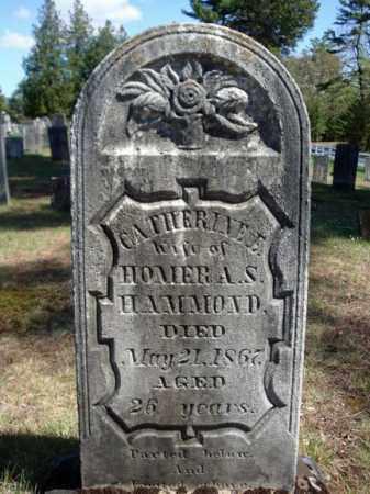 HAMMOND, CATHERINE E - Warren County, New York | CATHERINE E HAMMOND - New York Gravestone Photos