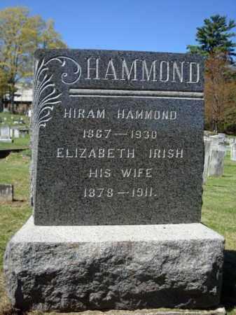HAMMOND, ELIZABETH - Warren County, New York | ELIZABETH HAMMOND - New York Gravestone Photos