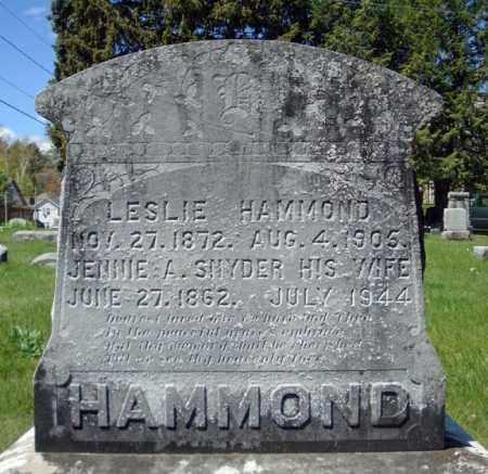 HAMMOND, JENNIE A - Warren County, New York | JENNIE A HAMMOND - New York Gravestone Photos