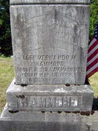 HAMMOND, VERNANDO M - Warren County, New York | VERNANDO M HAMMOND - New York Gravestone Photos