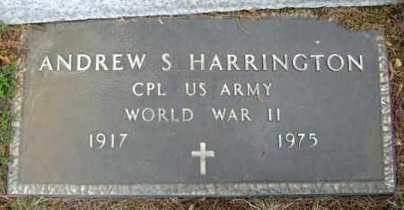 HARRINGTON (WWII), ANDREW S - Warren County, New York | ANDREW S HARRINGTON (WWII) - New York Gravestone Photos