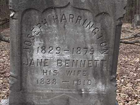 BENNETT HARRINGTON, JANE - Warren County, New York | JANE BENNETT HARRINGTON - New York Gravestone Photos