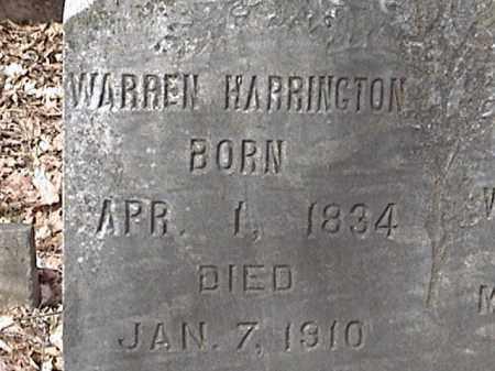 HARRINGTON, WARREN - Warren County, New York | WARREN HARRINGTON - New York Gravestone Photos