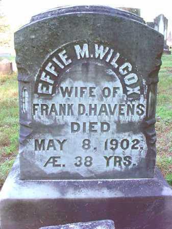 WILCOX, EFFIE M - Warren County, New York | EFFIE M WILCOX - New York Gravestone Photos