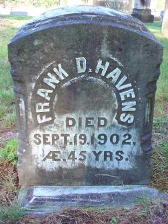 HAVENS, FRANK D - Warren County, New York | FRANK D HAVENS - New York Gravestone Photos