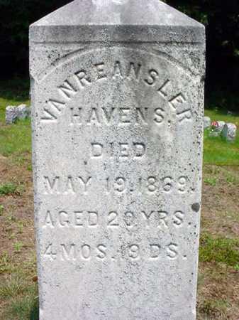 HAVENS, VANREANSLER - Warren County, New York | VANREANSLER HAVENS - New York Gravestone Photos
