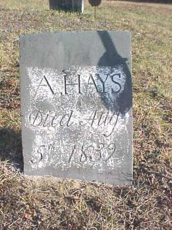 HAYS, A. - Warren County, New York   A. HAYS - New York Gravestone Photos
