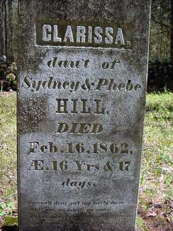 HILL, CLARISSA - Warren County, New York | CLARISSA HILL - New York Gravestone Photos