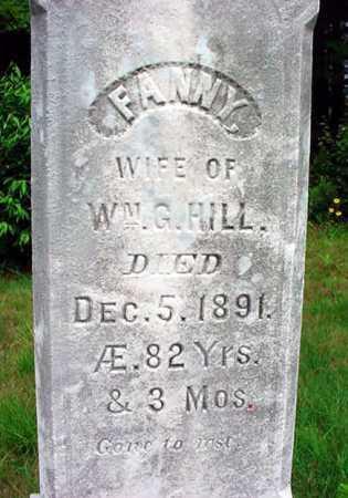 HILL, FANNY - Warren County, New York | FANNY HILL - New York Gravestone Photos