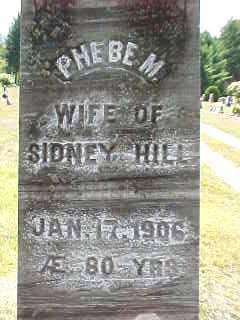 HILL, PHEBE M - Warren County, New York | PHEBE M HILL - New York Gravestone Photos