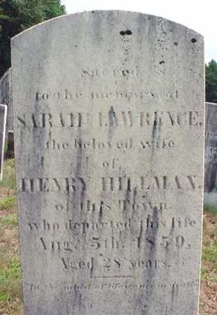 HILLMAN, SARAH - Warren County, New York | SARAH HILLMAN - New York Gravestone Photos