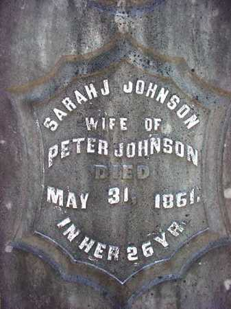 JOHNSON, SARAH J - Warren County, New York | SARAH J JOHNSON - New York Gravestone Photos