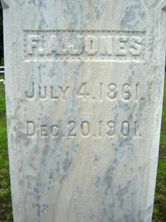 JONES, F A - Warren County, New York | F A JONES - New York Gravestone Photos