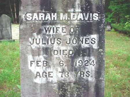 JONES, SARAH M - Warren County, New York   SARAH M JONES - New York Gravestone Photos