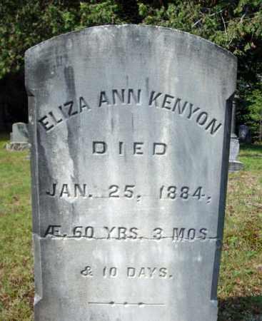 KENYON, ELIZA ANN - Warren County, New York | ELIZA ANN KENYON - New York Gravestone Photos