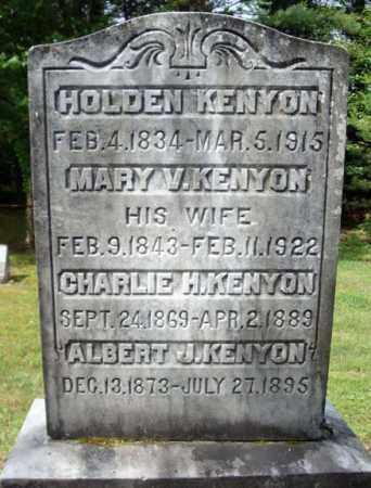 KENYON, HOLDEN - Warren County, New York | HOLDEN KENYON - New York Gravestone Photos