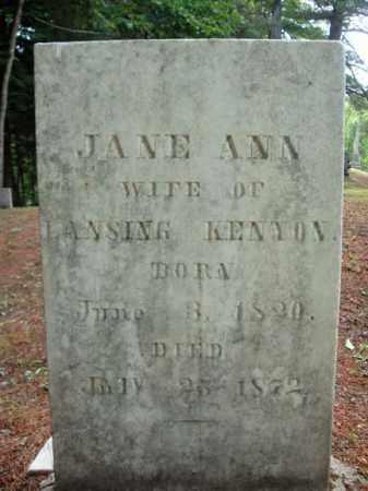 KENYON, JANE ANN - Warren County, New York   JANE ANN KENYON - New York Gravestone Photos