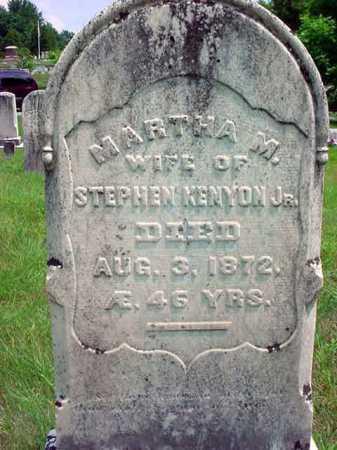 KENYON, MARTHA M - Warren County, New York | MARTHA M KENYON - New York Gravestone Photos