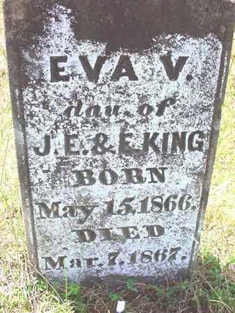 KING, EVA V - Warren County, New York | EVA V KING - New York Gravestone Photos