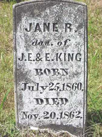 KING, JANE R - Warren County, New York | JANE R KING - New York Gravestone Photos