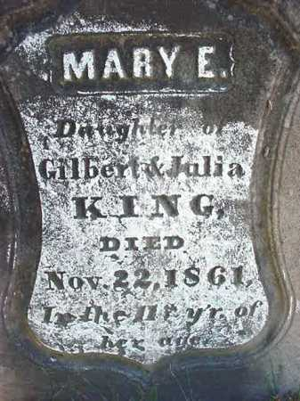 KING, MARY E - Warren County, New York   MARY E KING - New York Gravestone Photos