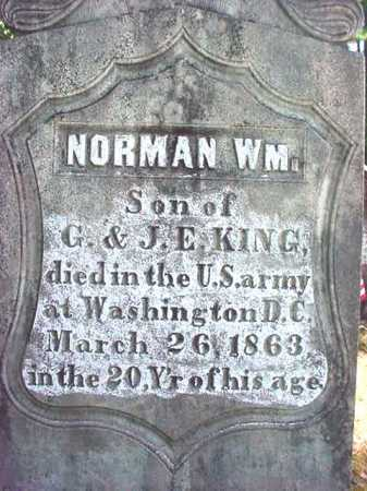KING (CW), NORMAN WILLIAM - Warren County, New York | NORMAN WILLIAM KING (CW) - New York Gravestone Photos