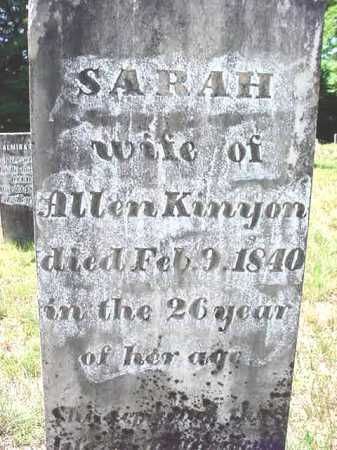 KINYON, SARAH - Warren County, New York | SARAH KINYON - New York Gravestone Photos