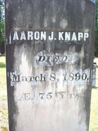 KNAPP, AARON J - Warren County, New York | AARON J KNAPP - New York Gravestone Photos