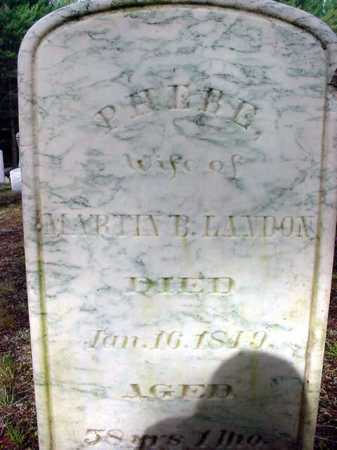 KNAPP LANDON, PHEBE - Warren County, New York | PHEBE KNAPP LANDON - New York Gravestone Photos