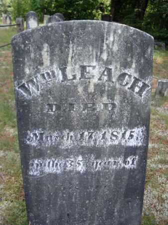 LEACH, WILLIAM - Warren County, New York | WILLIAM LEACH - New York Gravestone Photos