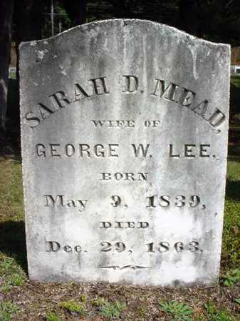MEAD LEE, SARAH D - Warren County, New York | SARAH D MEAD LEE - New York Gravestone Photos