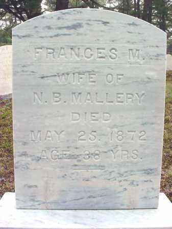 MALLERY, FRANCES M - Warren County, New York | FRANCES M MALLERY - New York Gravestone Photos