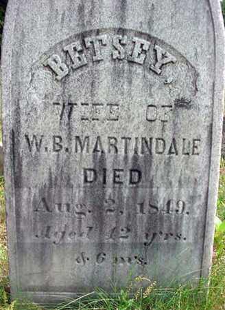 MARTINDALE, BETSEY - Warren County, New York | BETSEY MARTINDALE - New York Gravestone Photos