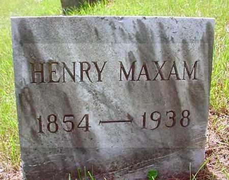 MAXAM, HENRY - Warren County, New York | HENRY MAXAM - New York Gravestone Photos