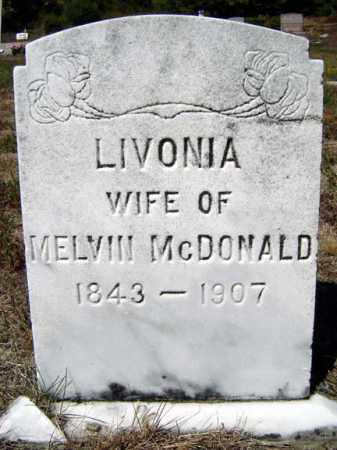 MCDONALD, LIVONIA - Warren County, New York | LIVONIA MCDONALD - New York Gravestone Photos