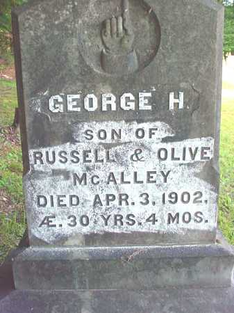 MCALLEY, GEORGE H - Warren County, New York   GEORGE H MCALLEY - New York Gravestone Photos