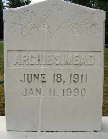 MEAD, ARCHIE S - Warren County, New York | ARCHIE S MEAD - New York Gravestone Photos