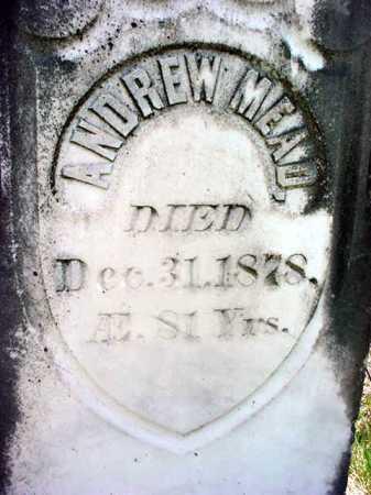MEAD, ANDREW - Warren County, New York | ANDREW MEAD - New York Gravestone Photos